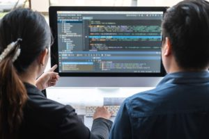 Custom software development company team